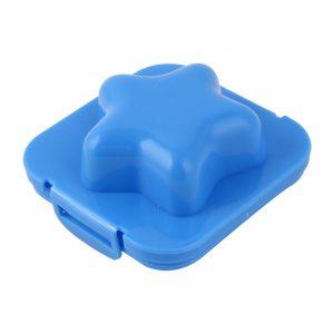 Blue plastic egg mold