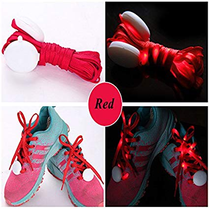Kid's LED Glowing Shoe Lace - Red