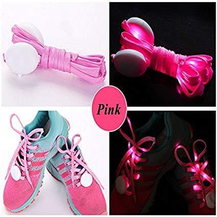 Kids LED Glowing Shoe Lace - Pink