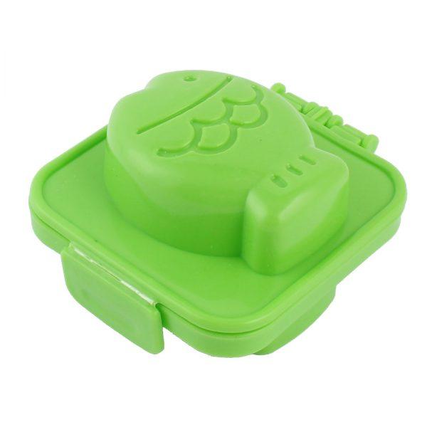 Green plastic egg mold