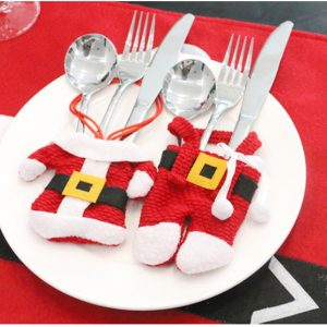 santa cutlery bag - 2 pieces (top and bottom)
