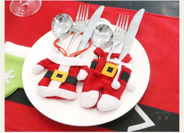santa cutlery bag - 2 pieces (top and bottom)