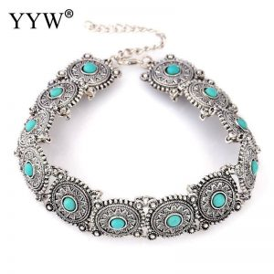Collar-Choker-Necklace Blue