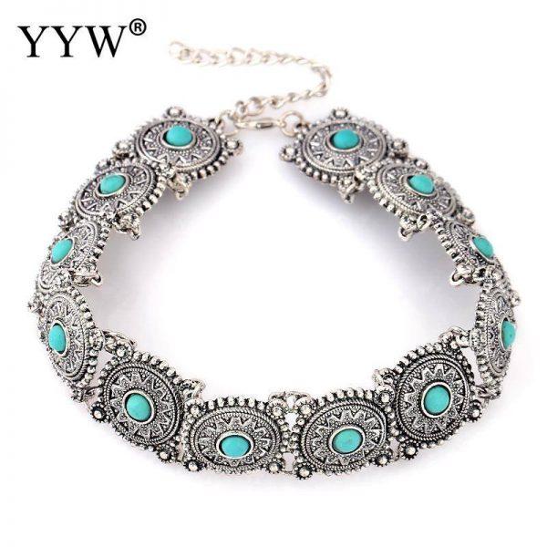 Collar-Choker-Necklace Blue