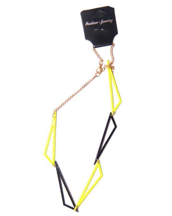 Geomatric Necklace -Yellow