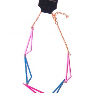 Geomatric Necklace -Pink