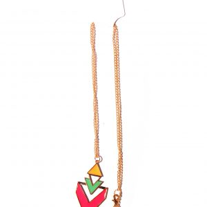 Geomatric long necklace