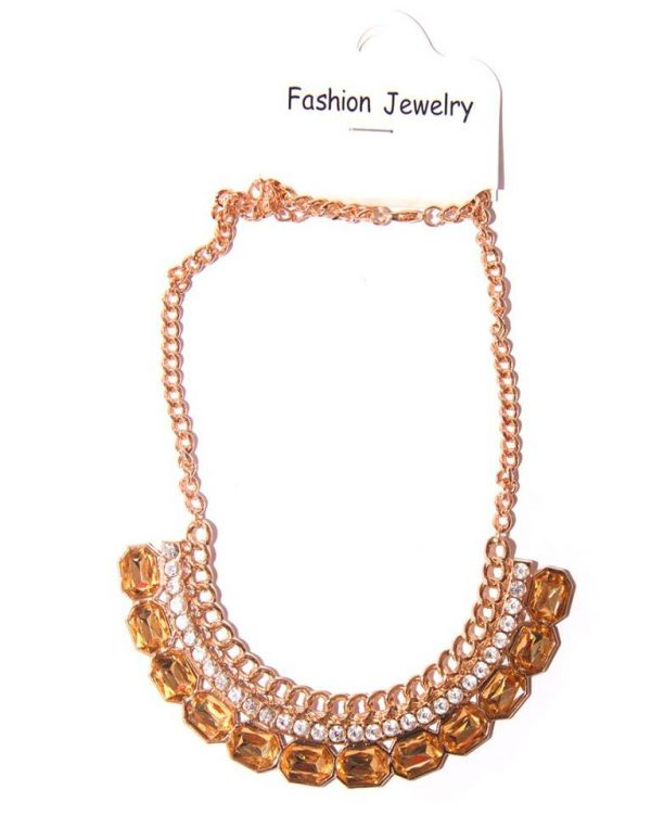 Gold plated necklace -Gold