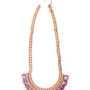 Gold plated necklace -Transparent