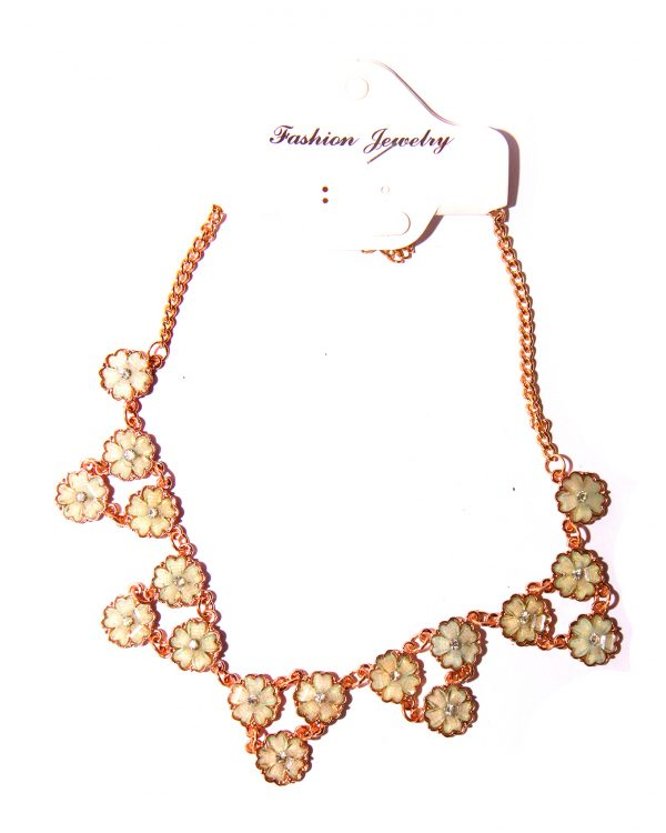 Gold plated necklace Orange