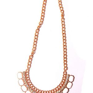 Gold plated necklace -White