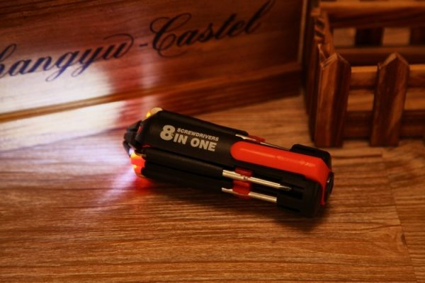 8 in 1 Multipurpose Screwdriver with Powerful Light