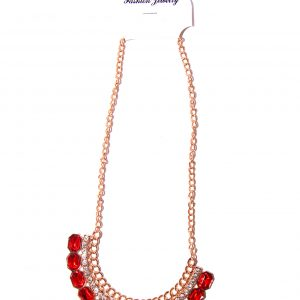 Gold plated necklace -Red