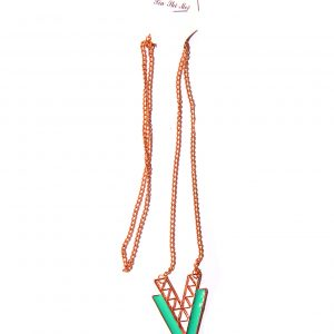 Long necklace green