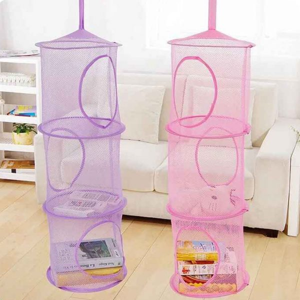 3 tier mesh hanging storage
