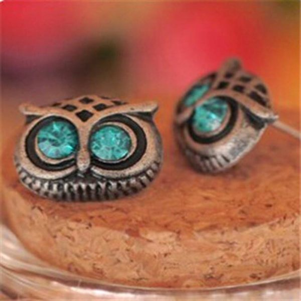 Owl Designed earrings -Blue