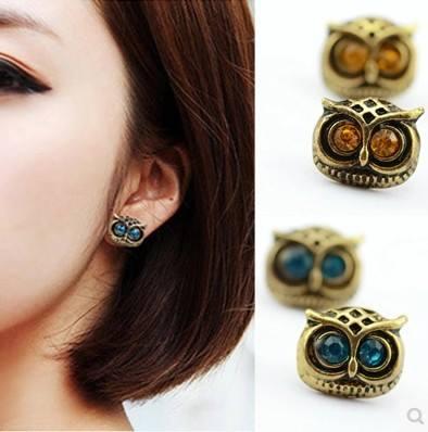 Owl Designed earrings -Brown