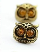 Owl Designed earrings -Brown
