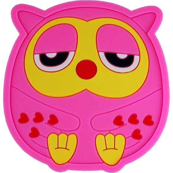 Silicone Coasters - Pink Owl
