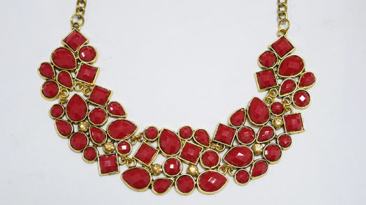 Statement necklace -Red