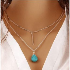 Bohemia turquoise double stranded chain