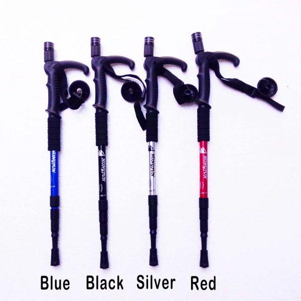Anti-shock 4 sectioned Walking stick