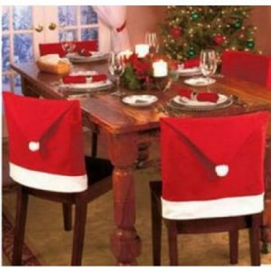 Santa Claus Hat Chair Cover