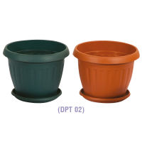 Daxer Plastic Flower Pot with Tray Large (DPT 02)