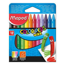 Maped Color Peps Wax Crayons 12 Color