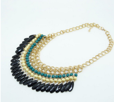 Layered Bohemian Tassels Fringe Drop Vintage Gold Choker-chain