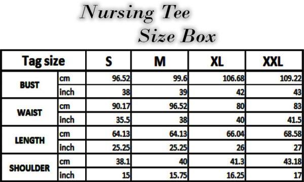 Nursing Tee - Black XXL