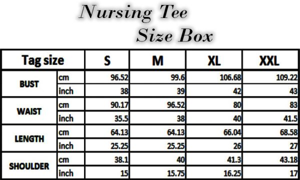 Nursing Tee - Black S