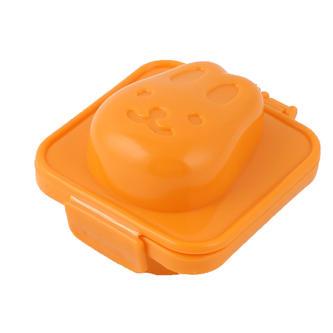 orange plastic egg mold
