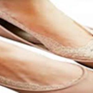Ankle cut socks Beige-lace