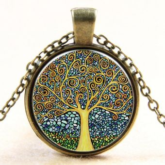 Vintage Tree of Life pendant necklace