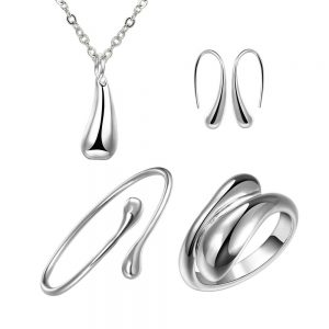 Water drop silver set